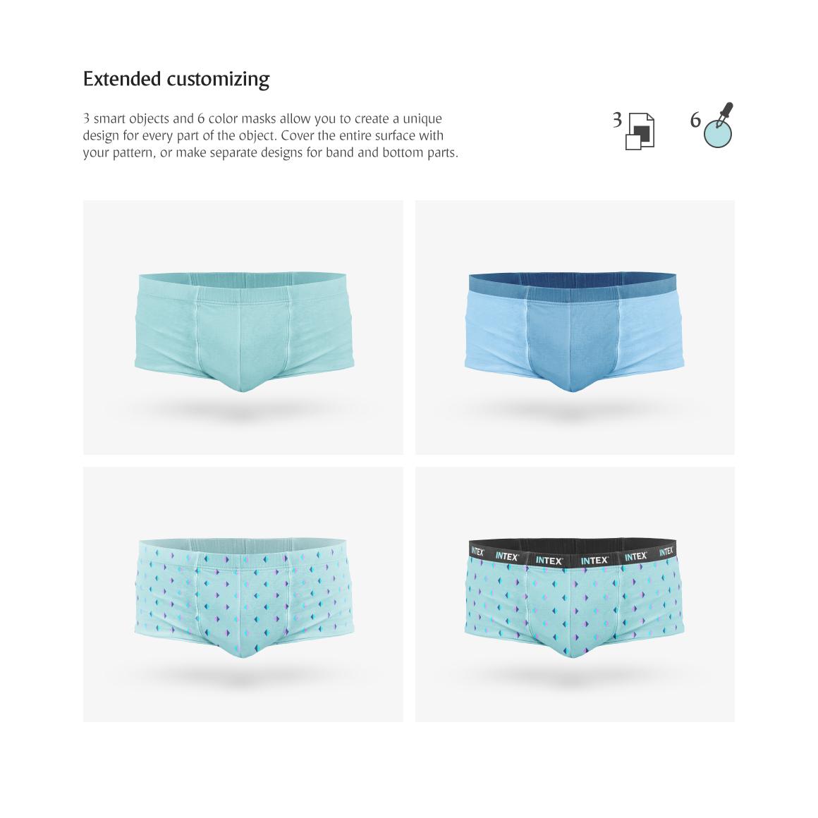 men s trunks underwear product mockup 73661