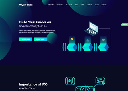 CrypToken - Cryptocurrency ICO