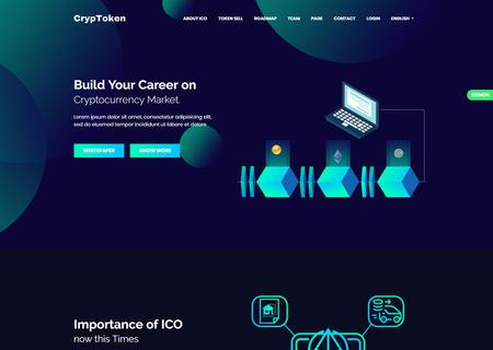 CrypToken - Cryptocurrency ICO