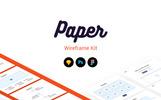 Paper Wireframe Kit UI elemek