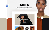 Shila Ecommerce Template Photoshop  №79824