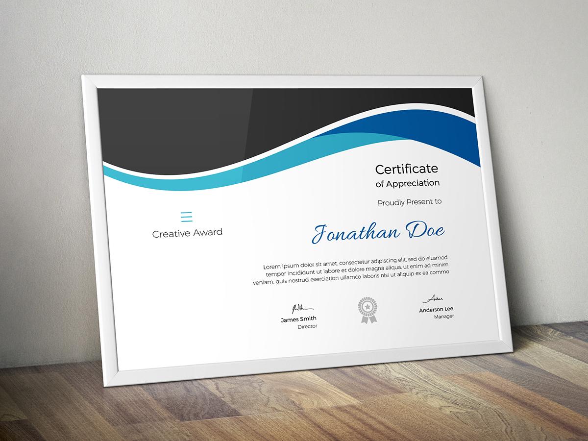 Zertifikat-Vorlage #68387 für Designstudio