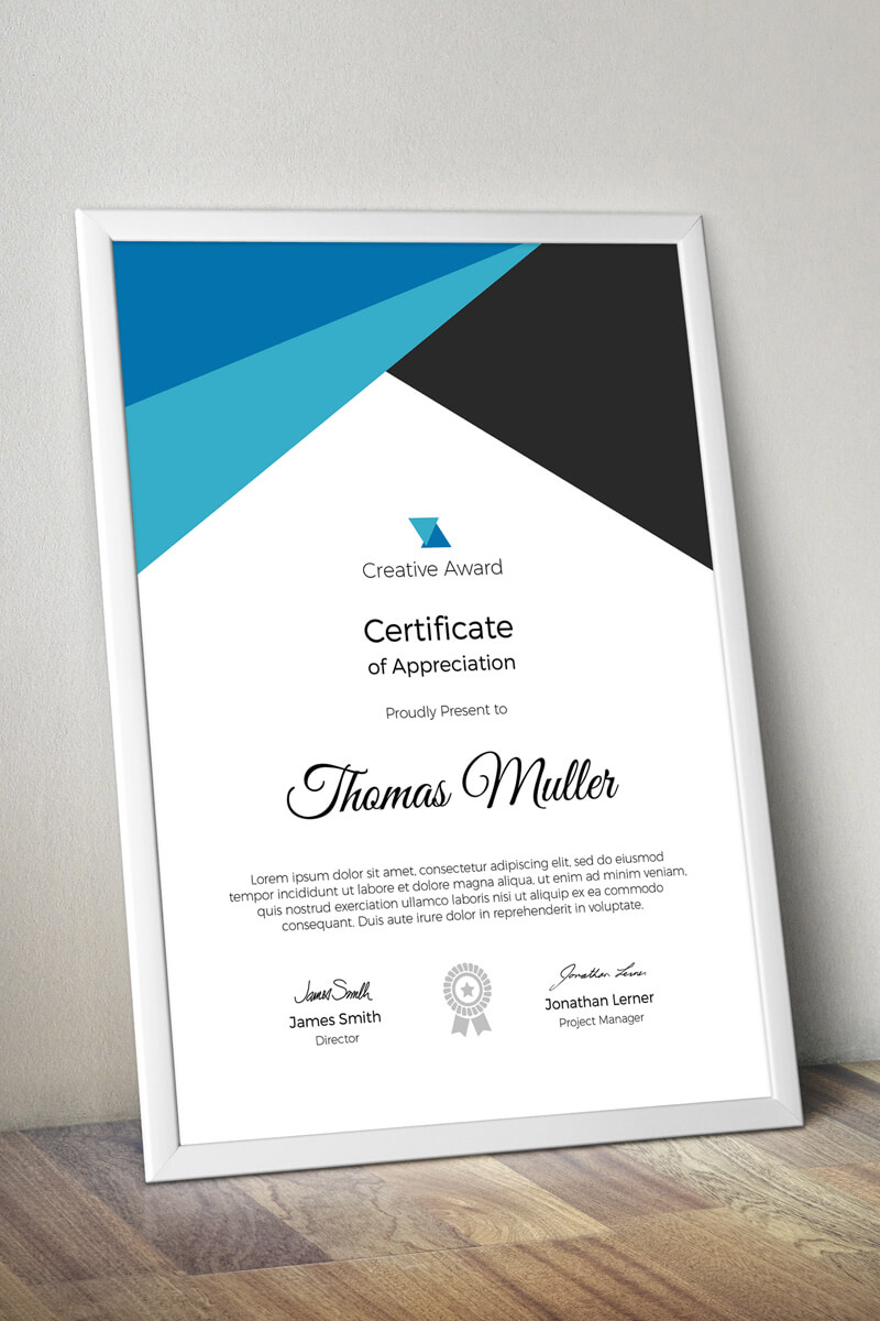 Creative Award Certificate Template 74346