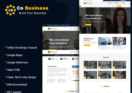 Co Business - Corporate, Business,  Html5 & Bootstrap 4