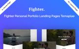 """Responzivní Šablona mikrostránek """"Fighter Personal Portfolio HTML5"""""""