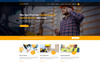 "Template di Landing Page Responsive #78400 ""Contructor-Construction & Building"" Screenshot grande"