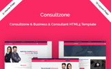 """""""Consultzone - Consultancy & Business"""" 响应式着陆页模板"""