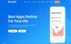 Responsivt Ronald - Software & App Landing WordPress-tema En stor skärmdump