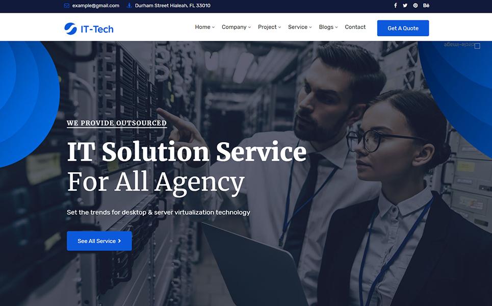 IT-Tech IT Solution & Business Service WordPress Theme