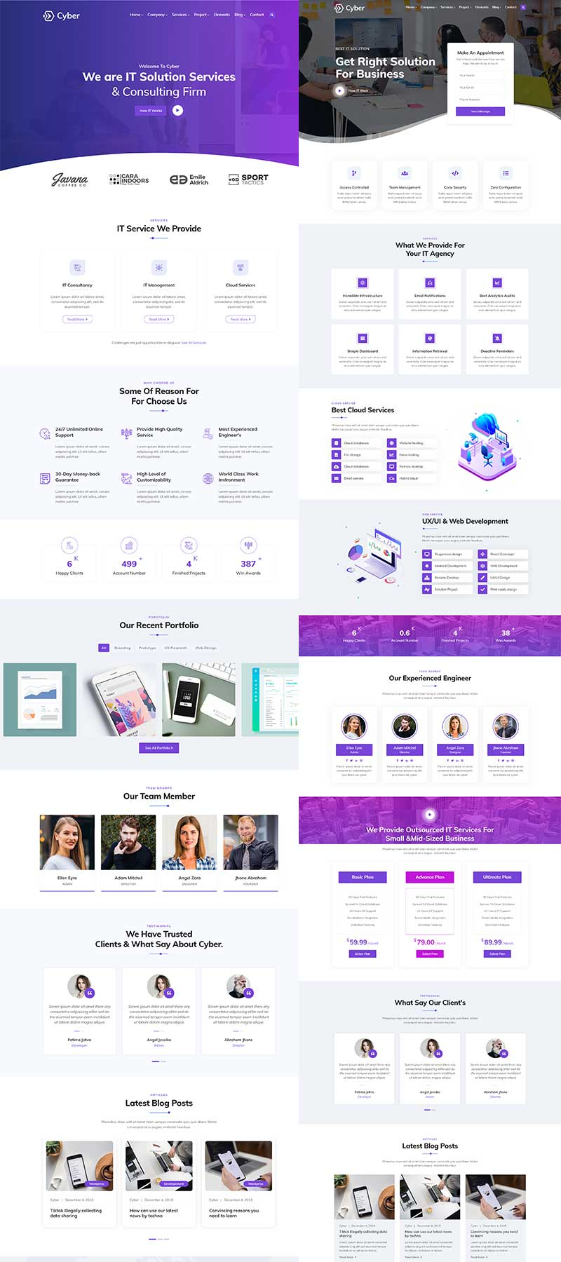 Cyber - IT Solutions & IT Startup WordPress Theme