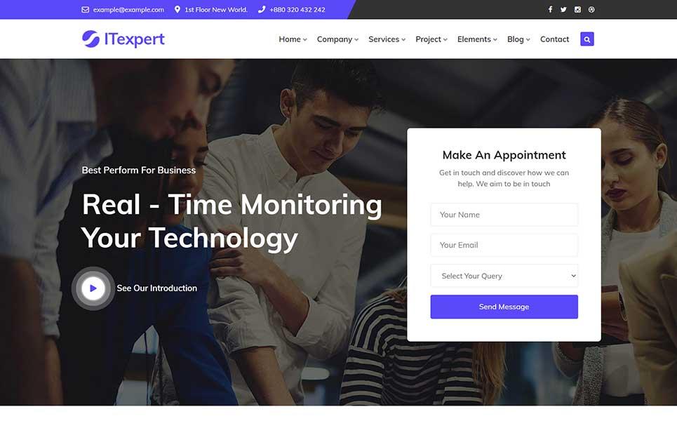 ITexpert IT Solution & Technology WordPress Theme