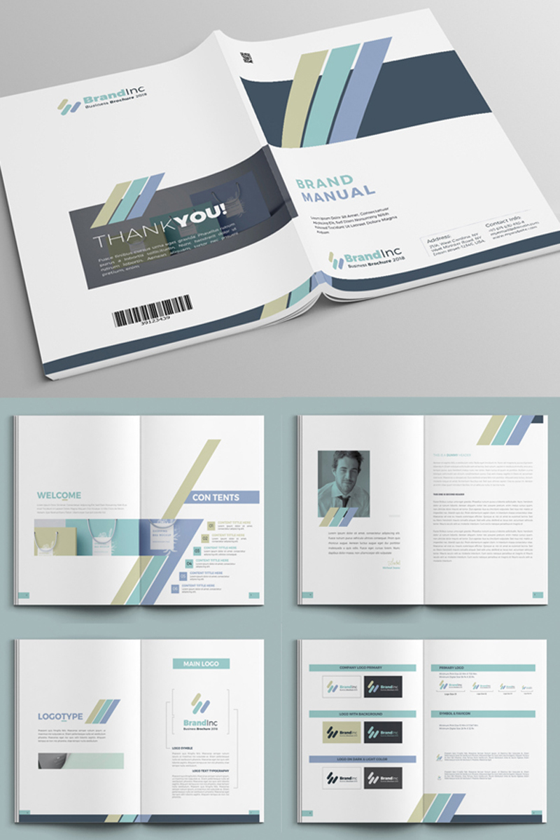 Minimal Brand Manual - InDesign Corporate Identity Template #68767
