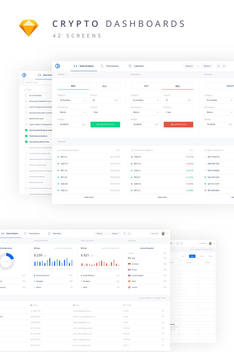 Crypto Web Kit UI Elements