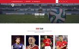 Bootstrap Football Champion - Sports PSD sablon
