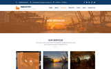 Responsivt Industry - Factory, Construction & Industrial PSD-mall
