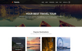 Responsivt TRAVEL - Tours and Travel PSD-mall