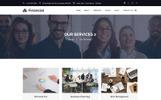 Financial - Üzlet és pénzügyi tanácsadás PSD sablon