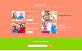 Responsive Kids Care - Children & Kindergarten Psd Şablon