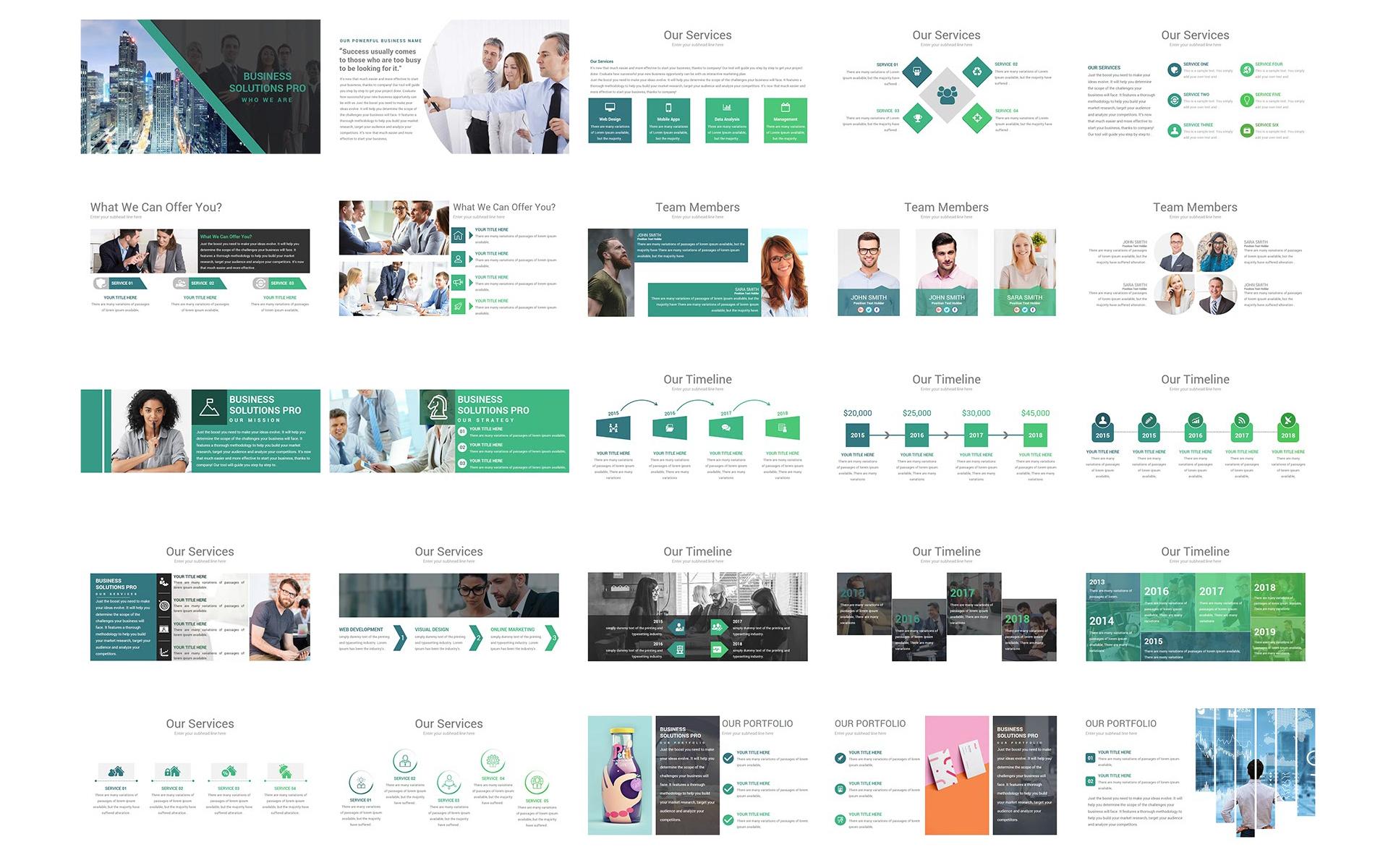 PowerPoint Vorlage #68974 für Business Services