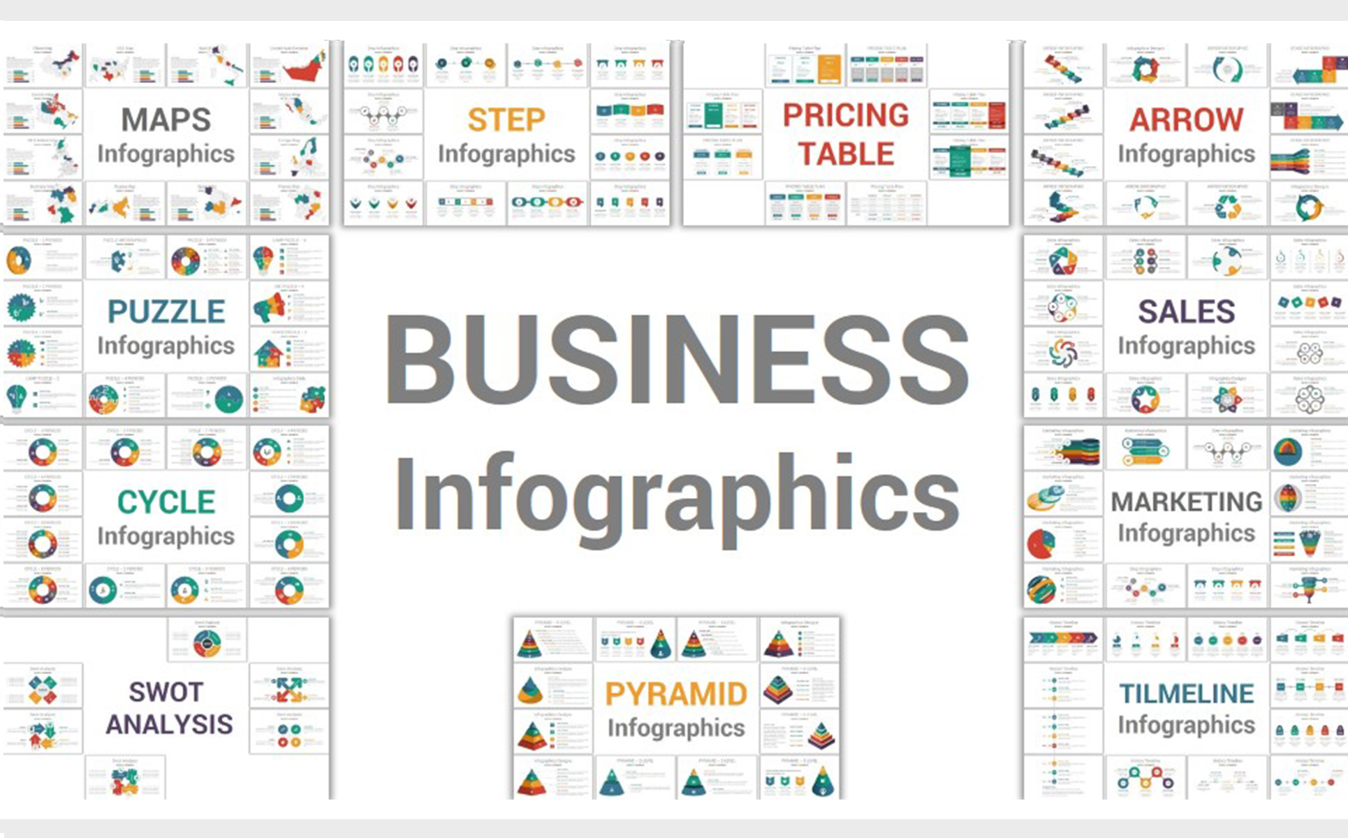 infographics professional business powerpoint template 69801