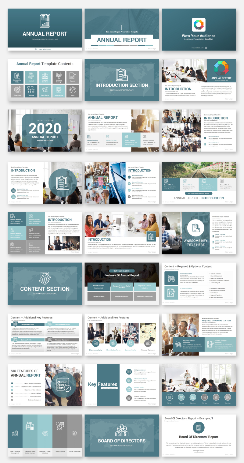 Annual Report PowerPoint Template