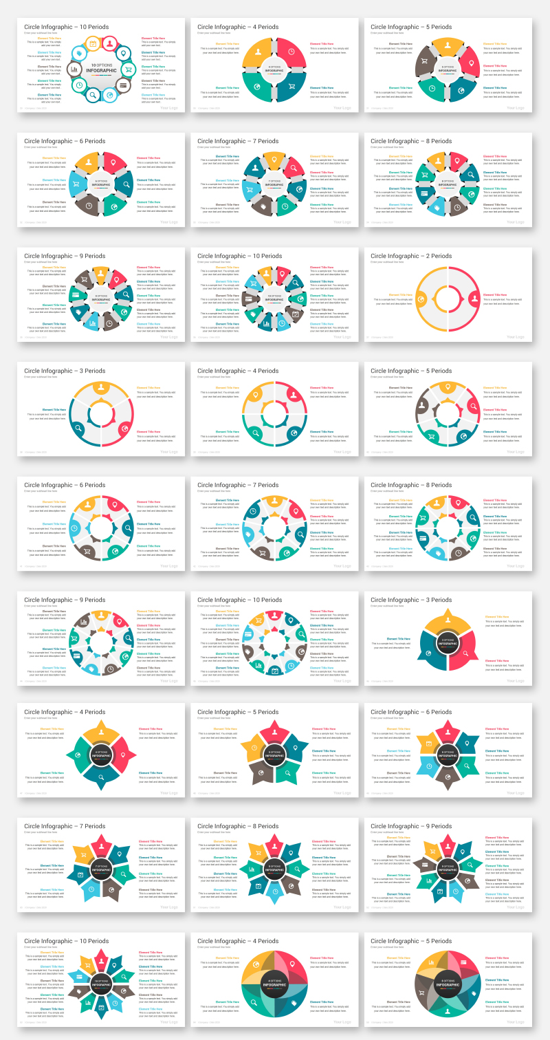 Circle Infographics Pack PowerPoint Template