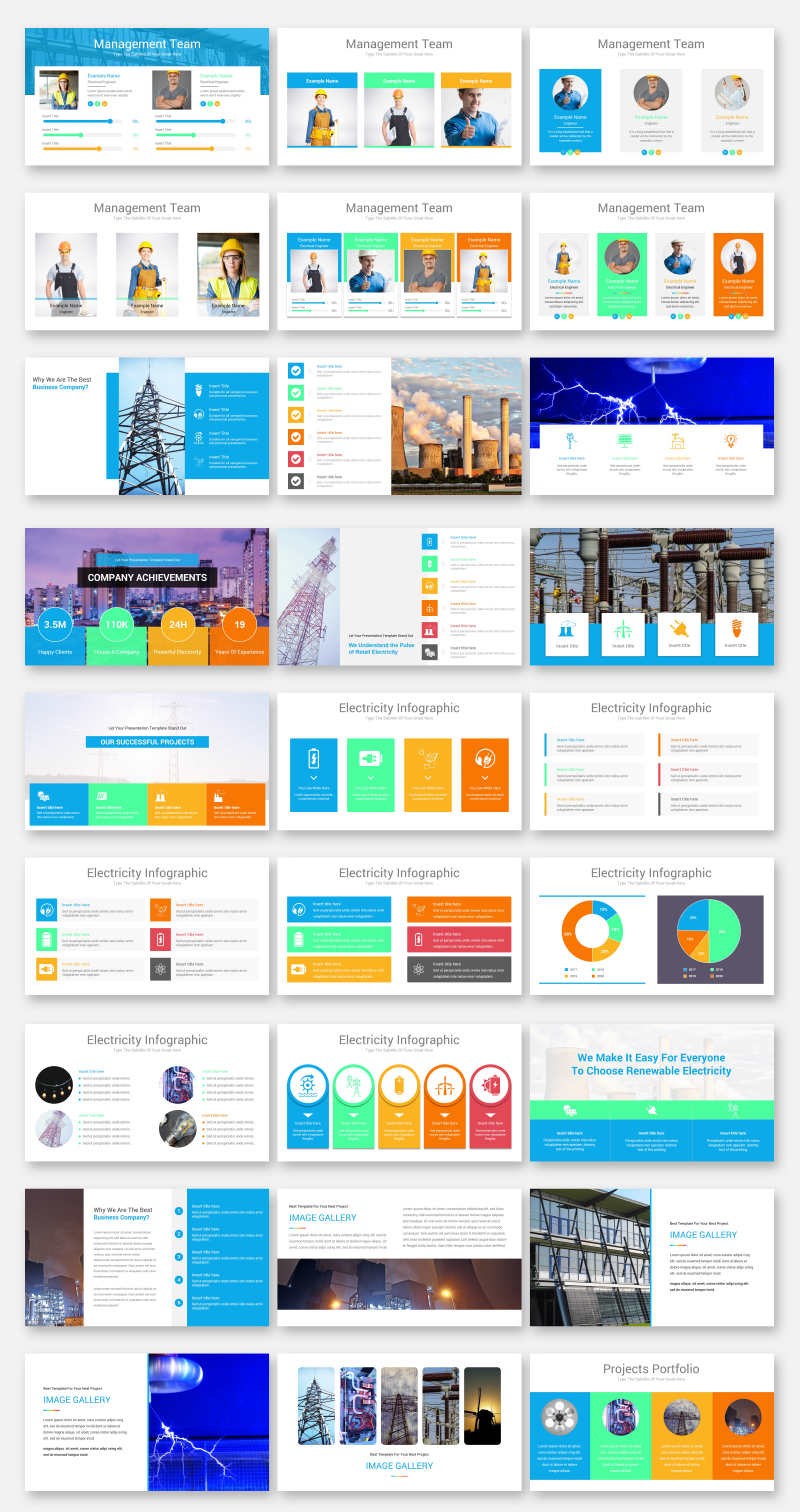 Electricity PowerPoint Template