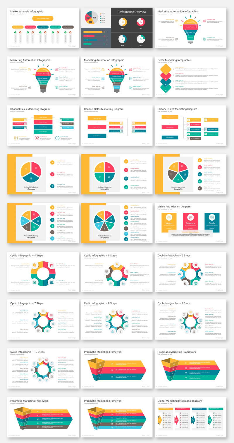 Marketing Diagrams PowerPoint Template