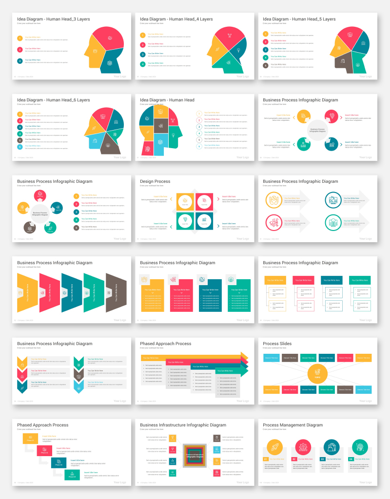 Process Infographics Pack PowerPoint Template