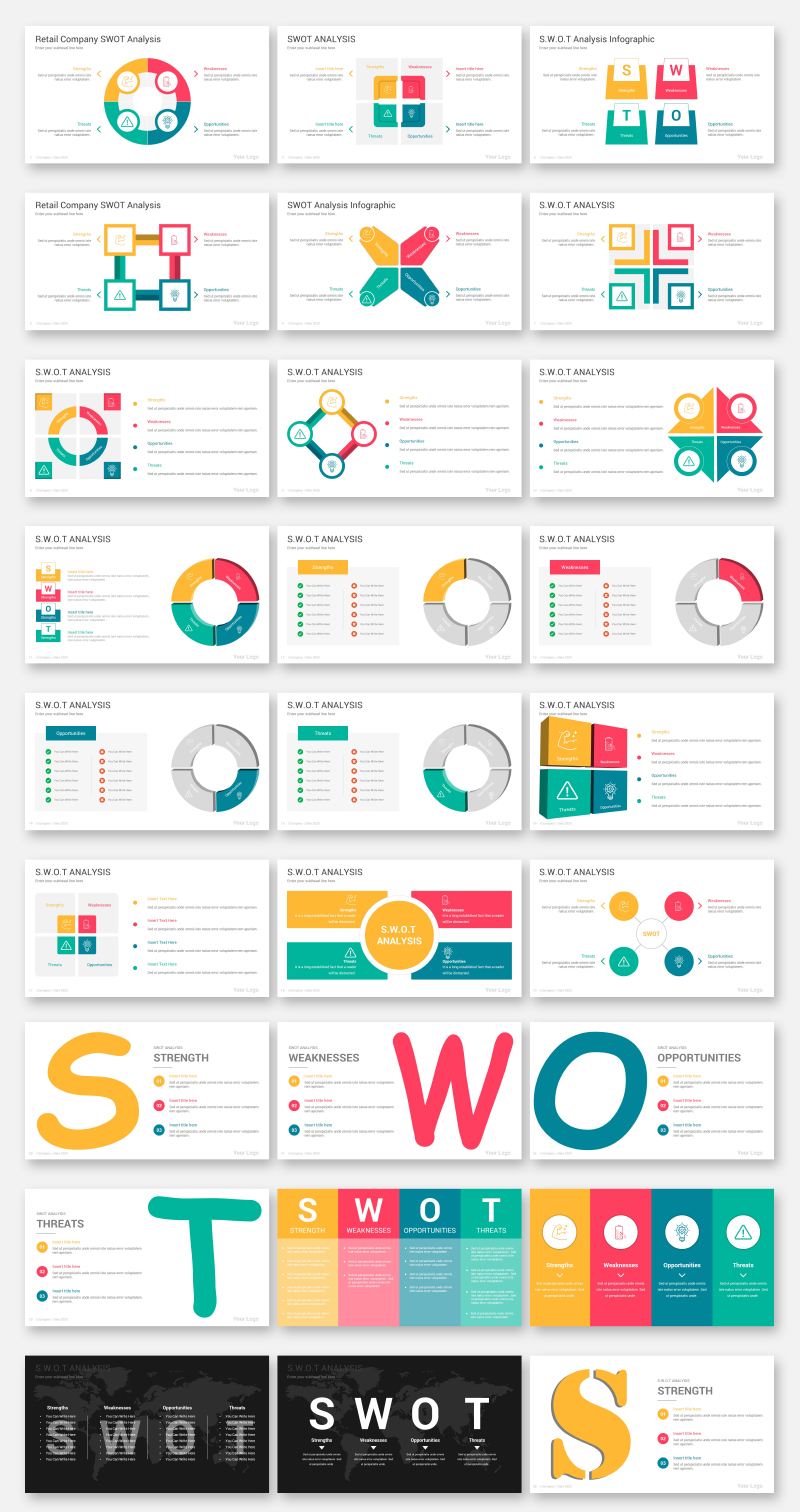 Swot analysis Infographics PowerPoint Template