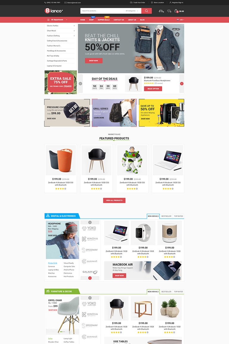 Bianco - The Best Store WooCommerce Theme #76823