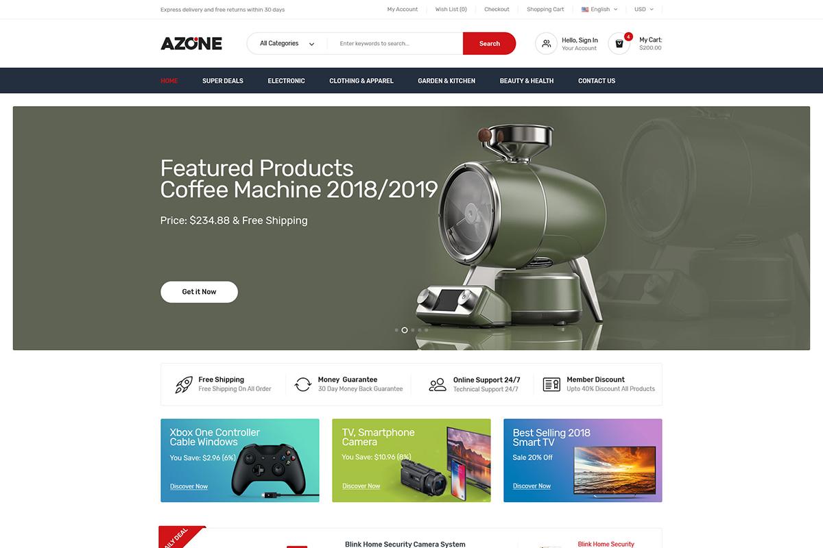 Azone - Multi-purposes WooCommerce Theme