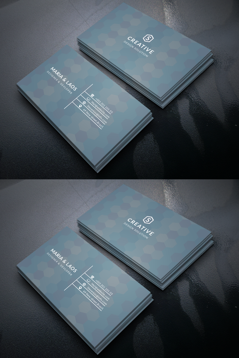 Maria & Laos Personal Business Card Corporate Identity Template #69406