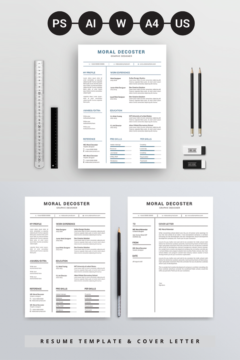Lebenslauf-Vorlage #71690 für Designstudio