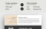 Jason William Modern Resume Template