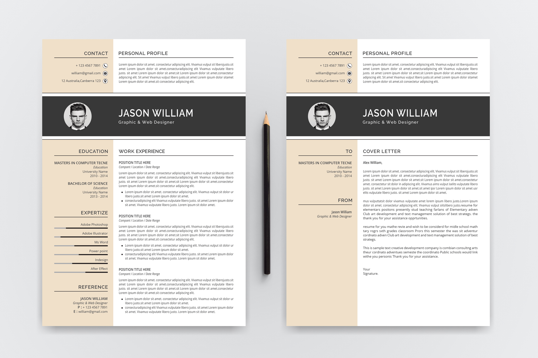 jason william modern resume template  76465