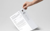 Clean & Professional Resume Template Big Screenshot