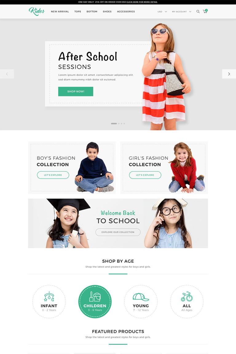 edf31e96125a Kidos - Kids Clothing WooCommerce Theme Big Screenshot