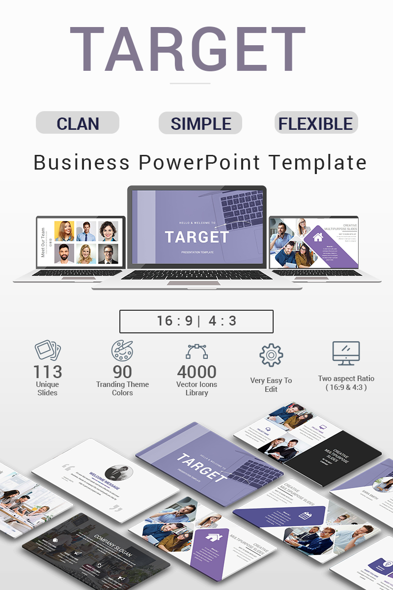 target presentation - powerpoint template #70683, Target Corporation Powerpoint Presentation Template, Presentation templates