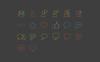 20 Social Communication Outline Style Iconset Template Big Screenshot