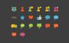 Social Communication Flat Iconset Template Big Screenshot