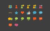 Social Communication Flat Iconset Template