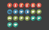 Social Communication Long Shadow Circle Iconset Template Big Screenshot