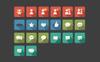 Social Communication Long Shadow Square Iconset Template Big Screenshot