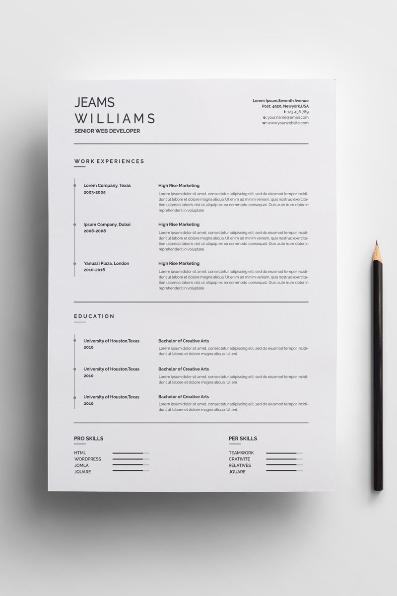 Classic And Clean Resume Template