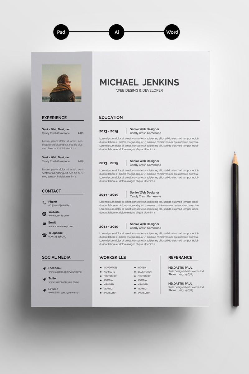 JEAKINS WORD RESUME Resume Template #71706