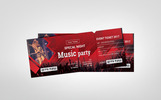"Unternehmensidentität Vorlage namens ""Music Party Event Ticket/VIP Pass"""