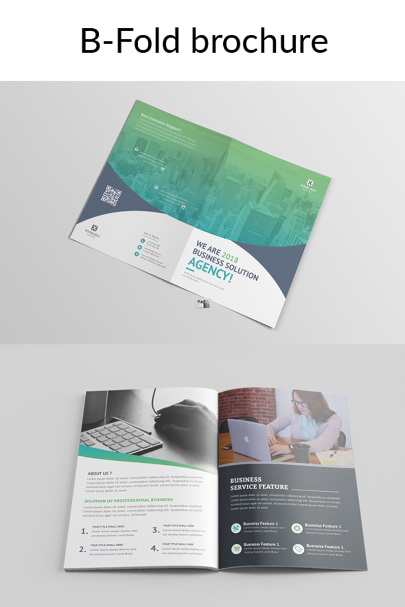 solution bi fold brochure corporate identity template 74358