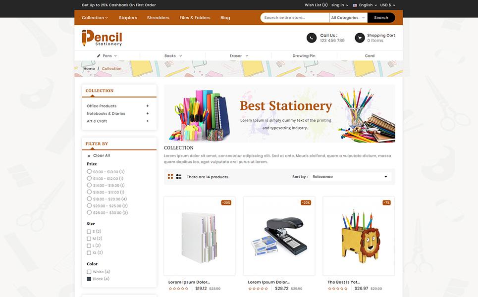 Pencil - Stationary PrestaShop Theme