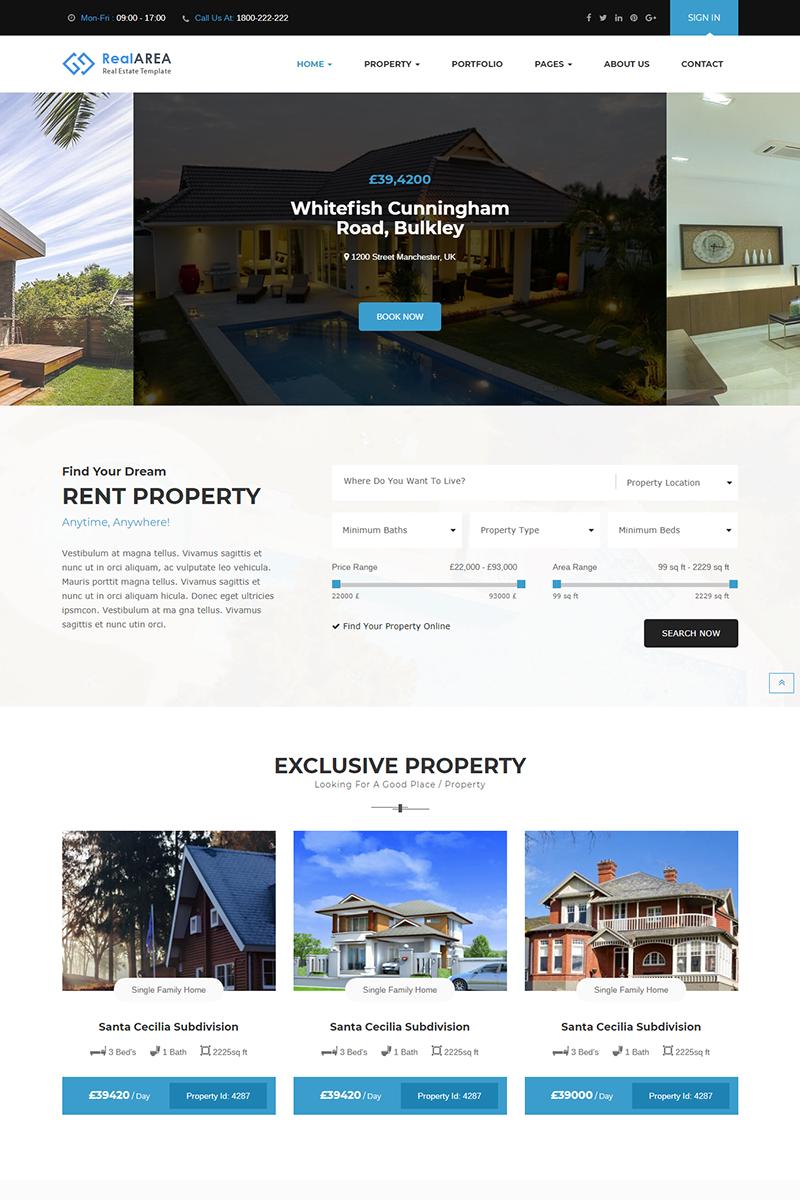 Адаптивный шаблон №75916 на тему недвижимость, агентство недвижимости